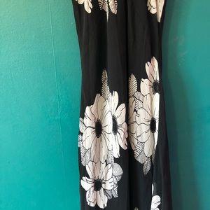 4079f2f2ce6 Ann Taylor Dresses - Ann Taylor high neck B W floral maxi dress